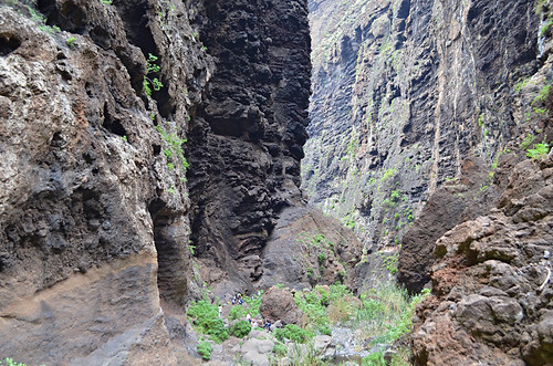 Sheer ravine walls, Masca Barranco, Tenerife