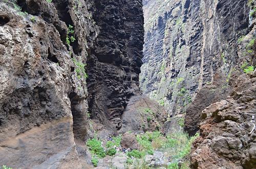 Sheer ravine walls, Masca Barranco, Tenerife