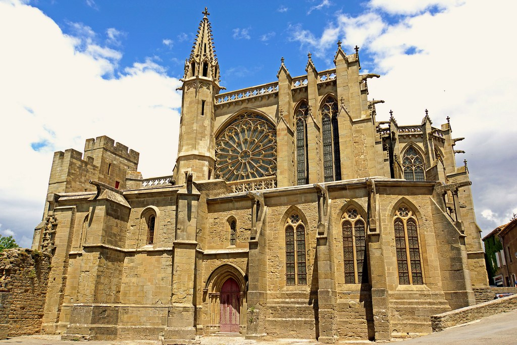 Basilica of Saint-Nazaire (11th - 14th century), the jewel of this medieval city, Carcassonne. Photo Dennis Jarvis