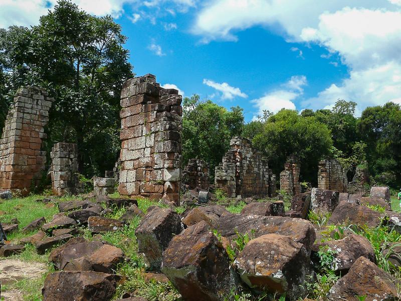 Les ruines de l'église de Santa Ana