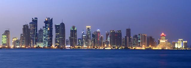 Panorámica del skyline de Doha de las cosas más espectaculares que ver en Qatar