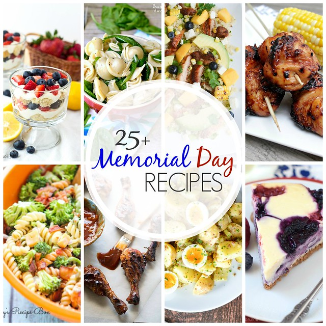 25+ Memorial Day Recipes! Everything you need for your Memorial Day party! Grilling recipes, pasta salads, easy desserts, and so much more!