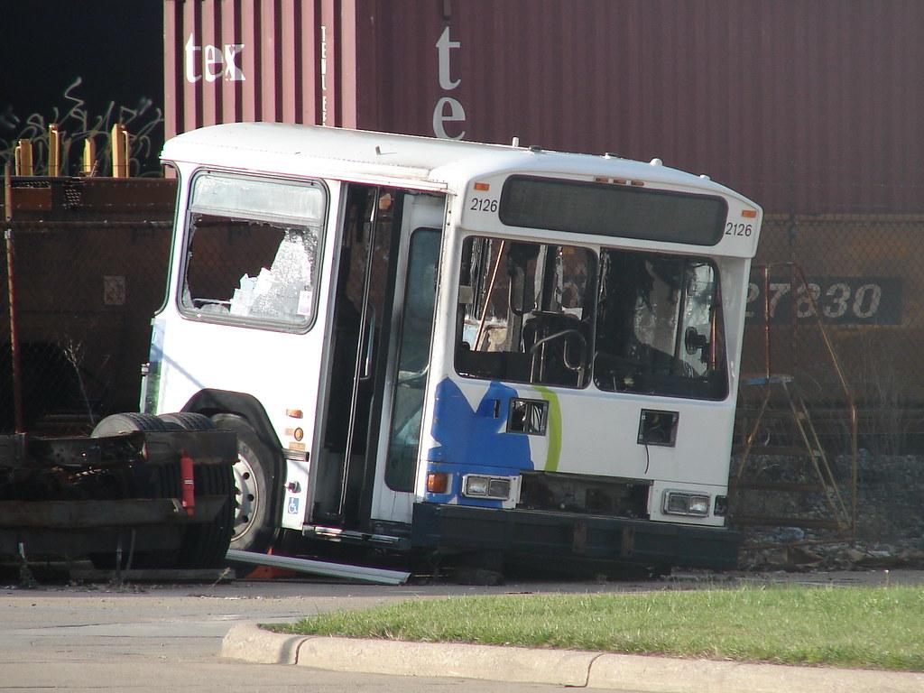 Cincinnati Metro 2126 Or What S Left Of It Bus
