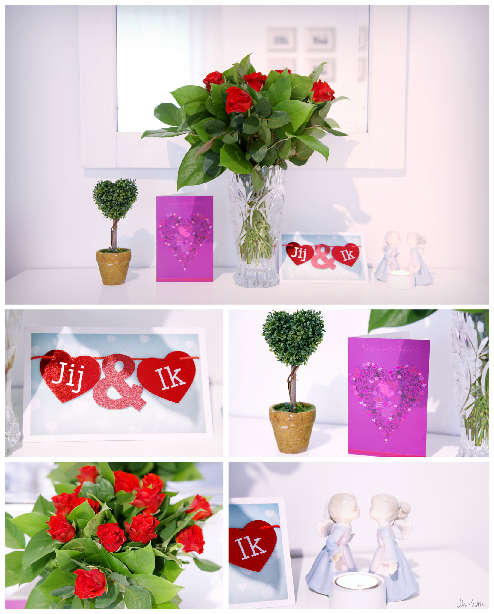 Valentine's Day 2016 red roses flowers cards dutch belgium romantic heart shaped plant decorative candle angels in love
