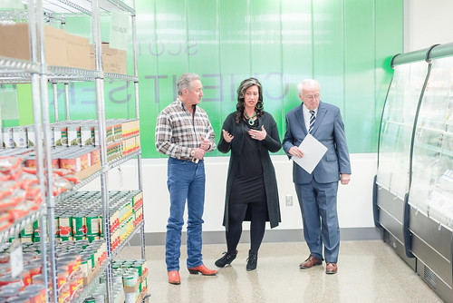 Kevin Concannon touring the new West Texas Food Bank