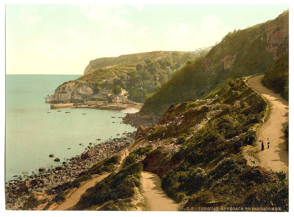 Approach to Babbacombe Beach, Torquay, Devon