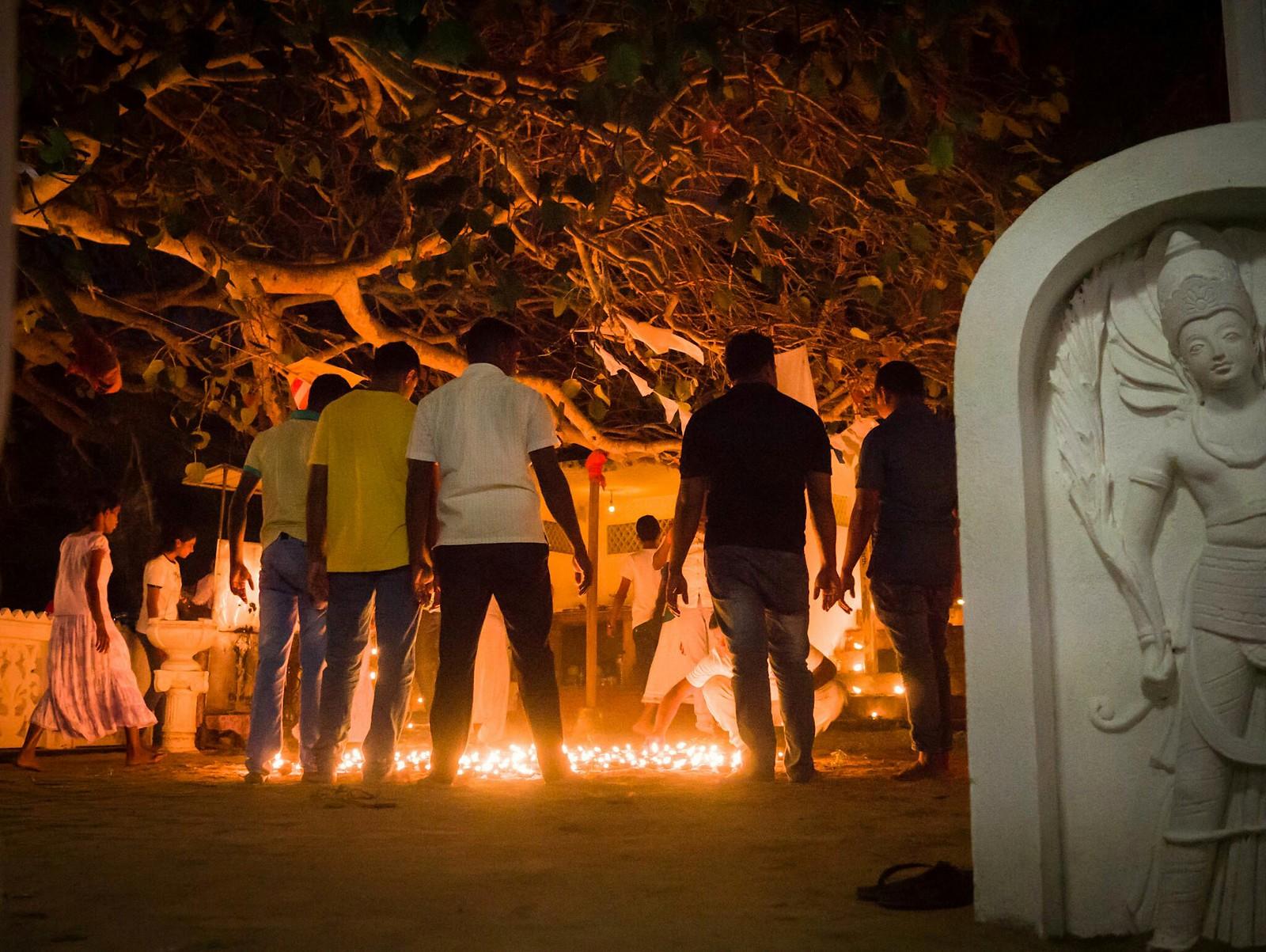 Fire under the Bodhi Tree (Kirinda Viharaya, Sri Lanka)