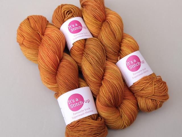 Favourite Sock – hand-dyed superwash merino 4 ply yarn 'Harvest Moon'