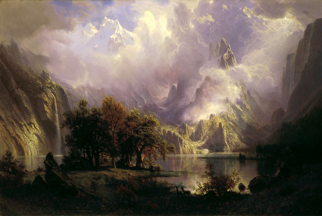 Rocky Mountain Landscape by Albert Bierstadt, 1870