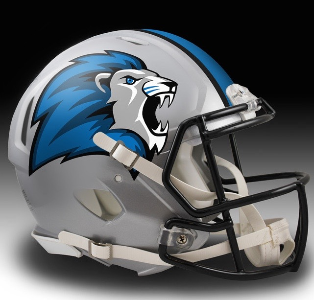 and shaun davies came up with a good lions head but for some reason put it on only one side of the helmet with a mini check pattern on the other side