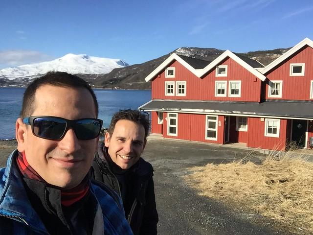 Sele e Isaac Chavetas en Laponia Noruega