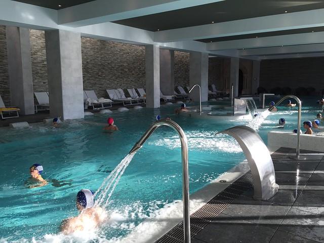 Así es la piscina termal del Hotel Balneario Monasterio de Valbuena en Valladolid