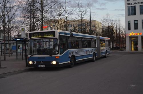 O405GN-Wagen 5815 steht abfahrbereit am Giesinger Bahnhof (Bild: Leo Papic)