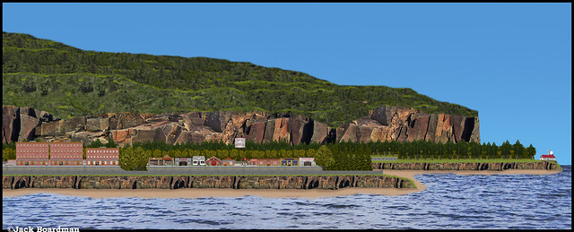 New Port of Danger Bay Village & Lighthouse ©Jack Boardman