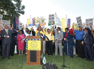 NAACP President Cornell Brooks and Democracy Initiative partners call for an end to voter suppression and press Congress to restore Voting Rights Act.