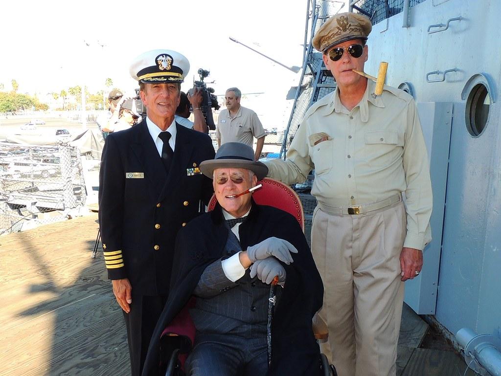 Capt Abele President Roosevelt General Macarthur Uss