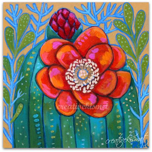 Cactus Bloom, Art by Regina Lord