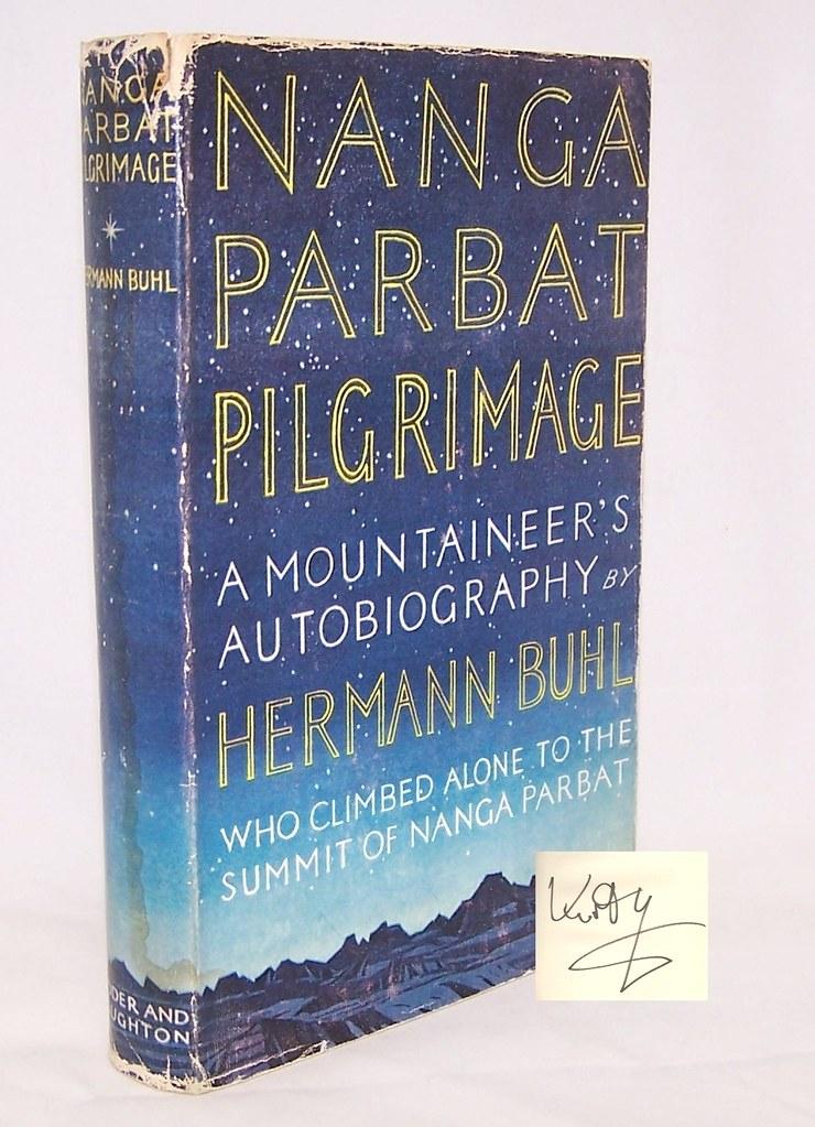 Το εξώφυλλο της πρώτης αγγλικής έκδοσης του βιβλίου Nanga Parbat Pilgrimage, το 1956