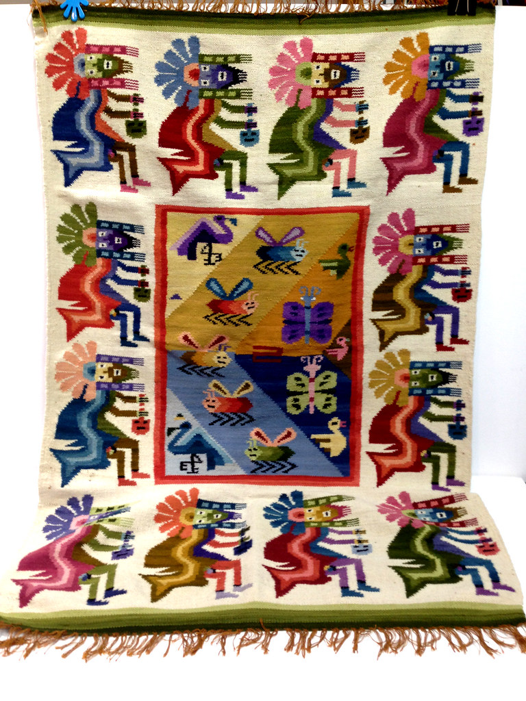 Antique native american fertility pictorial wool kokopelli i dont know the entire history of this beautiful piece but was told that it is a native american possibly aztec hopi pictorial tapestrywall hangingrug buycottarizona Gallery
