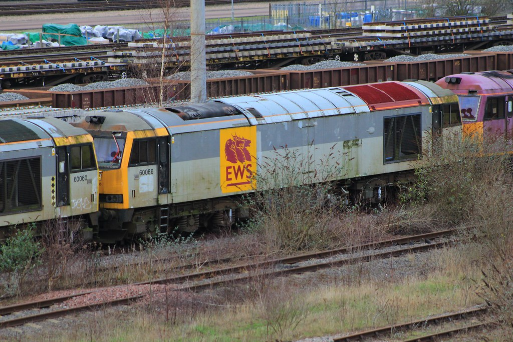 Toton Db Schenker Class 60 60086 Is Seen At Toton