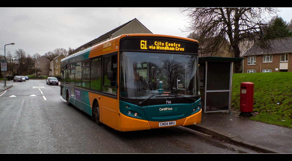 Cardiff Bus 714 Operator Cardiff Bus Bws Caerdydd
