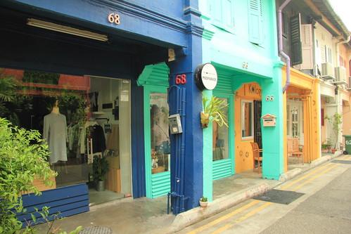 Warna-warni Toko di Jalan Haji Lane
