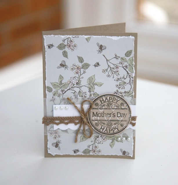 Mother's Day Cards by StickerKitten. Craft Consortium English Garden papers.