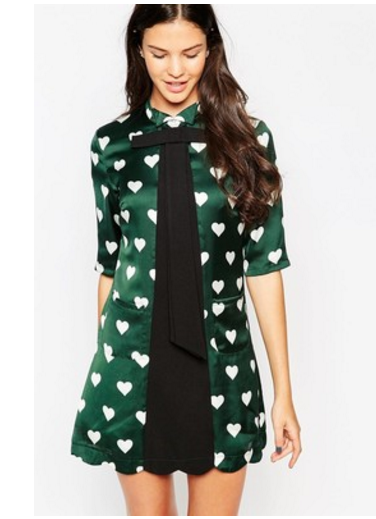 yumi heart tunic dress