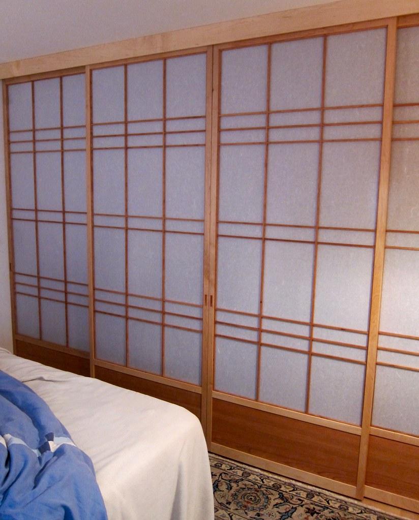 Shoji Closet Doors : Sliding shoji screen closet doors panel