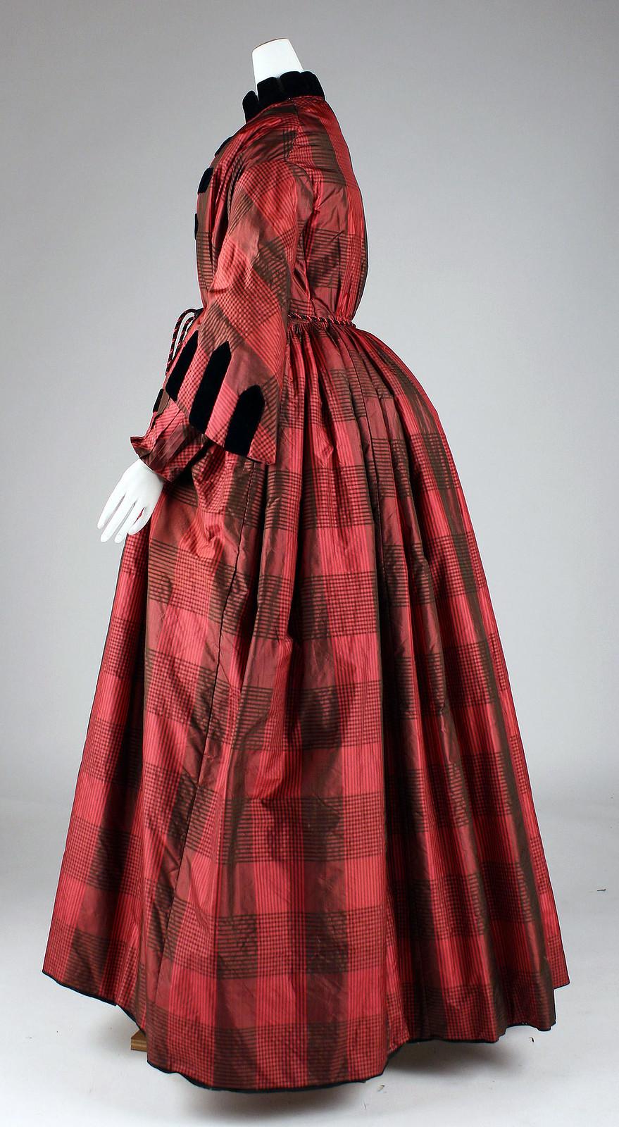 Dressing gown, c.1855, American, metmuseum
