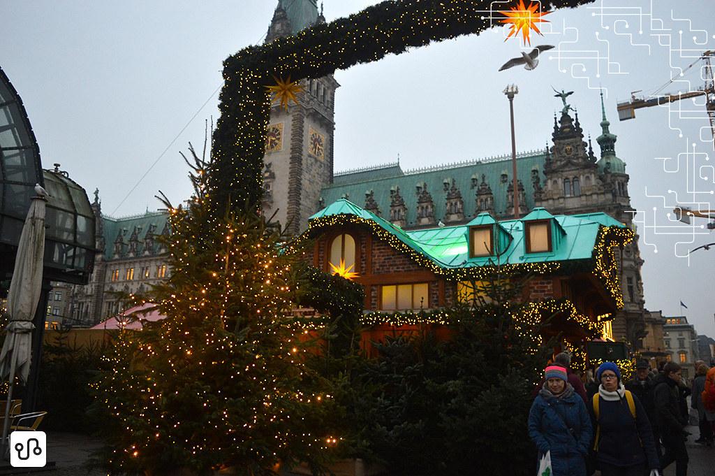 Feira de natal em Hamburgo