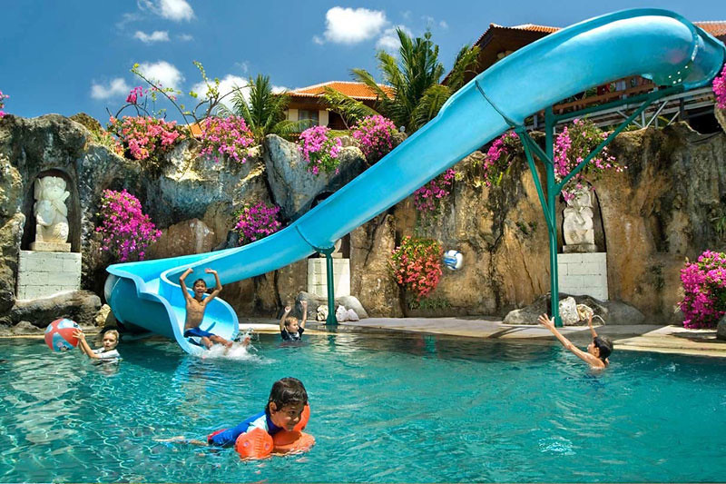 9 Bali Beach Resorts With Amazing Water Slides And Kid Pools