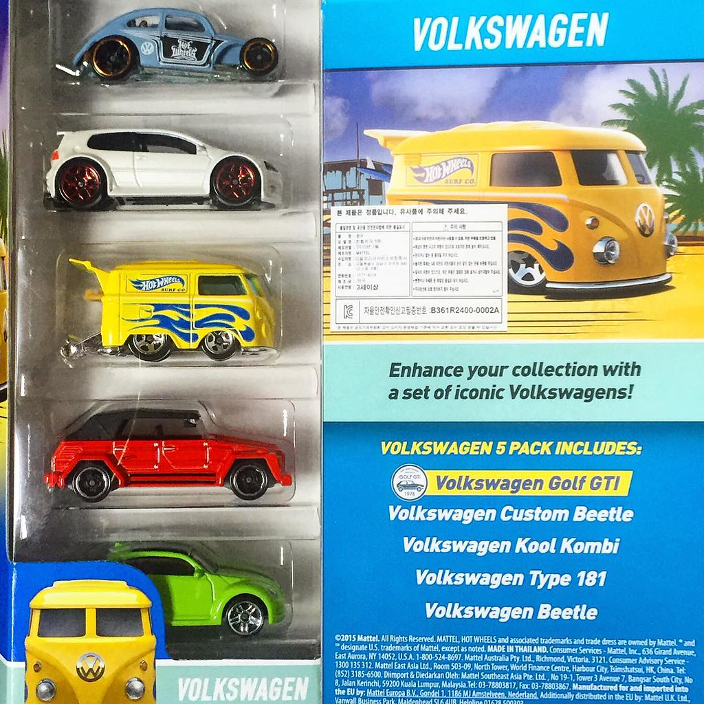 Hot wheels 2016 5 pack volkswagen custom volkswagen be for 9 salon hot wheels 2016