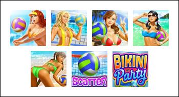 free Bikini Party slot game symbols