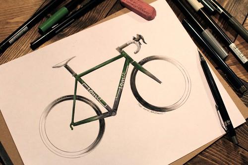 Sunday night drawing. Dark Green Metallic, Dark Gray Metallic and Pure White logo.