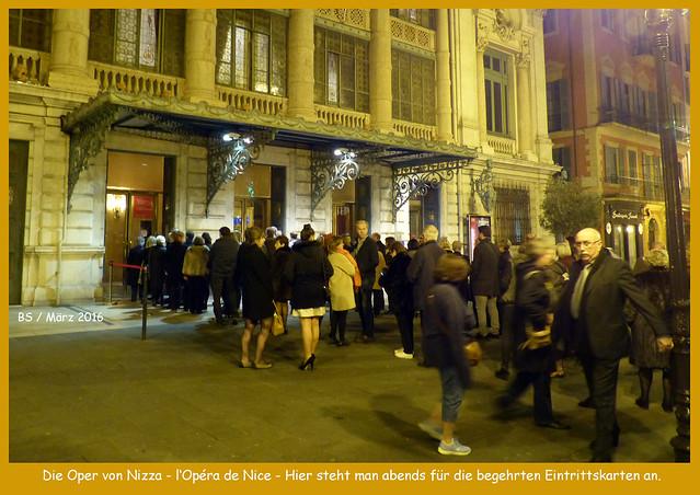 Die Oper von Nizza l'Opéra de Nice Tag und Nacht Fotocollage Brigitte Stolle März 2016