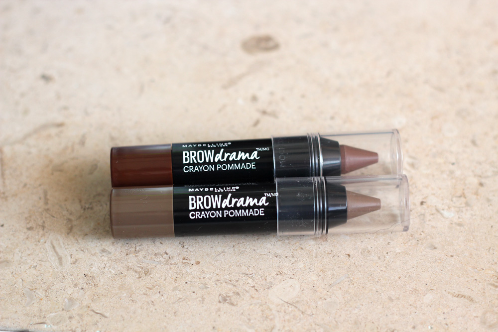 Maybelline Brow Drama Pomade Crayons in Auburn and Soft Brown from Influenster