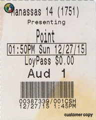 Point Break ticketstub