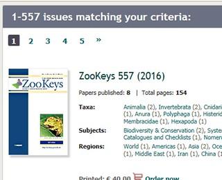 第557期《ZooKeys》封面。臺北市立大學提供