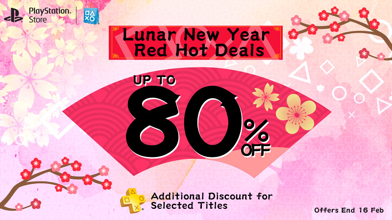 Lunar New Year Red Hot Deals up to 80% off! – PS Plus Extra Discount
