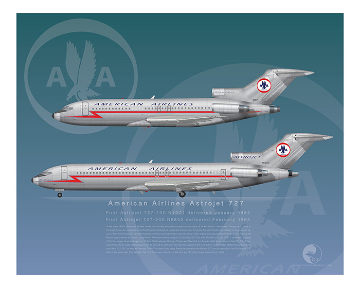American Airlines Boeing 727 100 200 Astrojets Now