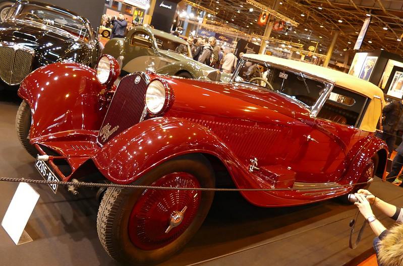 Alfa figoni 2300 8c 1938 retromobile paris 2016 alfa for Garage alfa romeo paris
