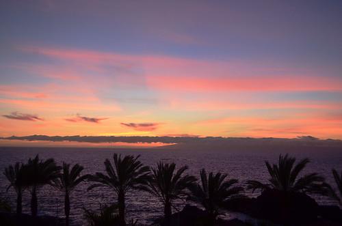 Sunset over La Gomera, Tenerife