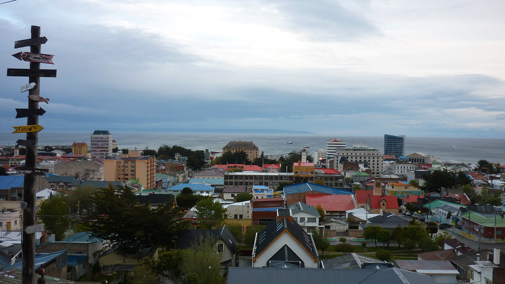 Punta Arenas, at the shore of the Magellan Strait