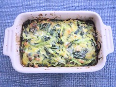 Courgette and spinach tian