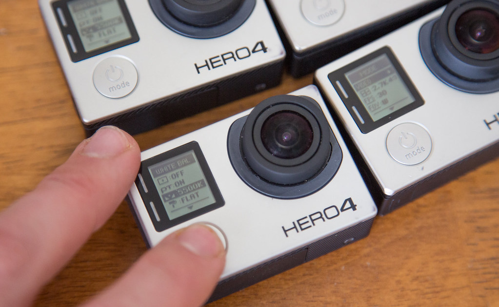 Change all the gopro camera to the exact same filming settings