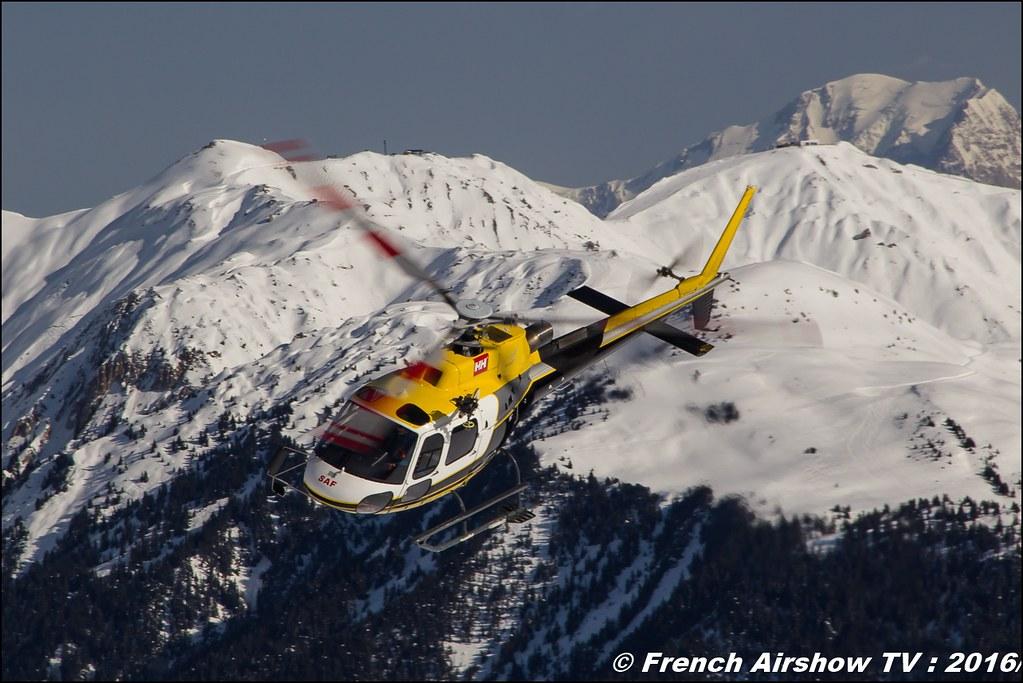Aérospatiale AS-350 B3 Ecureuil F-HJCG, SAF,hélicoptère, Salon Hélicoptère à Courchevel 2016, Meeting Aerien 2016