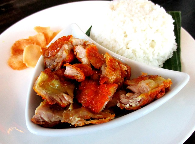 Islamic Nyonya Kafe honey chicken with rice