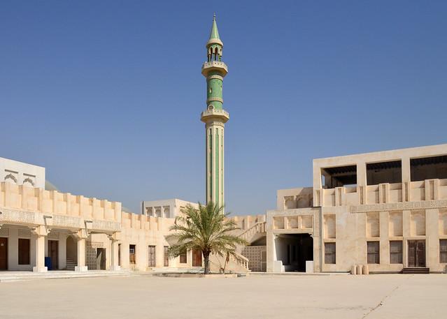 Alminar de una de las mezquitas de Doha en Qatar