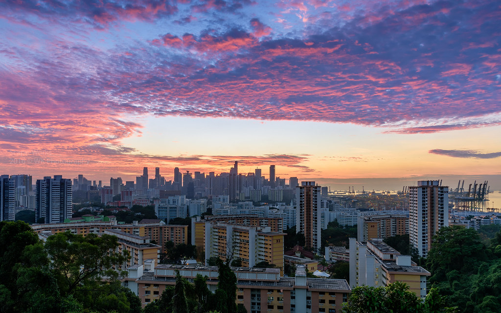 mount faber sunrise  singapore